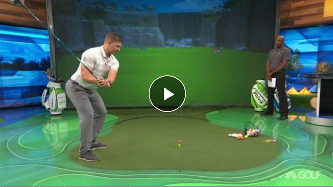 Brad Skupaka illustrates a long driver ground power distance drill