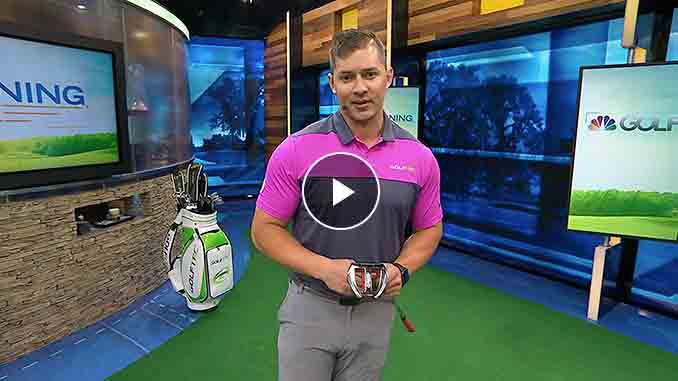 Brad Skupaka illustrates how a poker chip can help your putting.