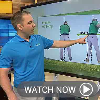 Nick Clearwater illustrates how hip sway impacts the golf swing