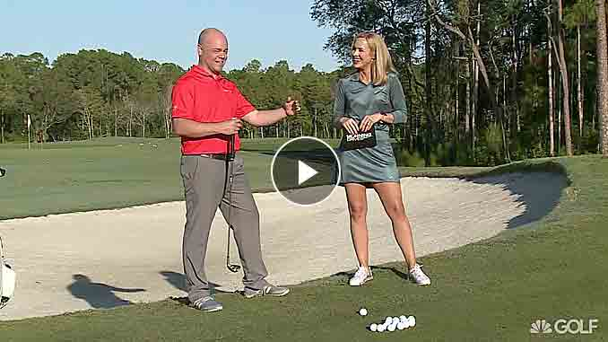 Zach Lambeck appears on Golf Channel with a drill to help focus your chipping skills
